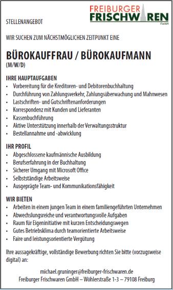 Freiburger Frischwaren GmbH,