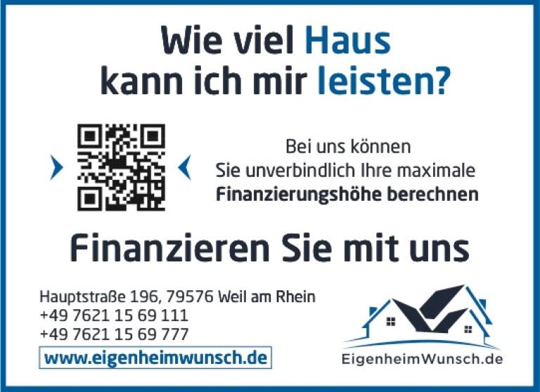 EigenheimWunsch GmbH,