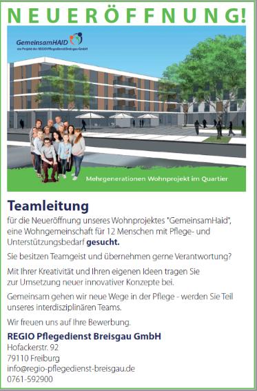 Teamleitung (m/w/d)