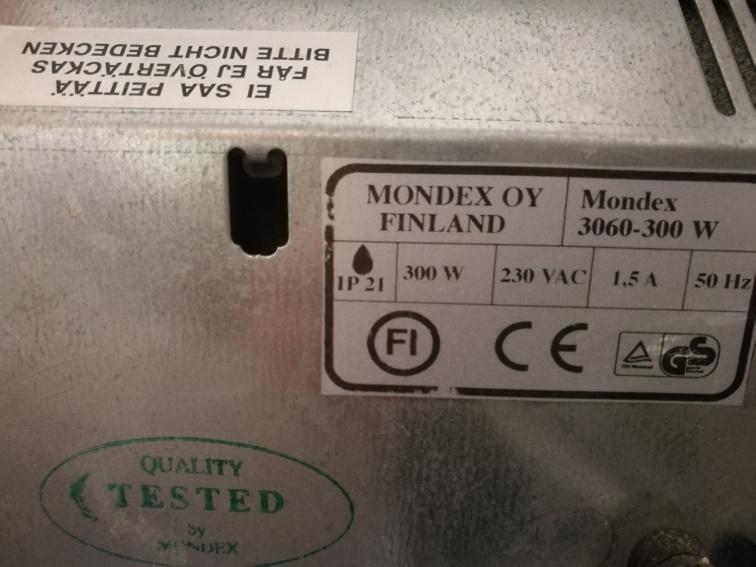 2 Wandheizkörper / Specksteinofen (elektrisch) Mondex, 1 x 300 W, 1 x 800 W