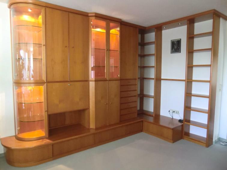 Hochwertige Wohnzimmer Schrankwand Kirsche (Massiv)