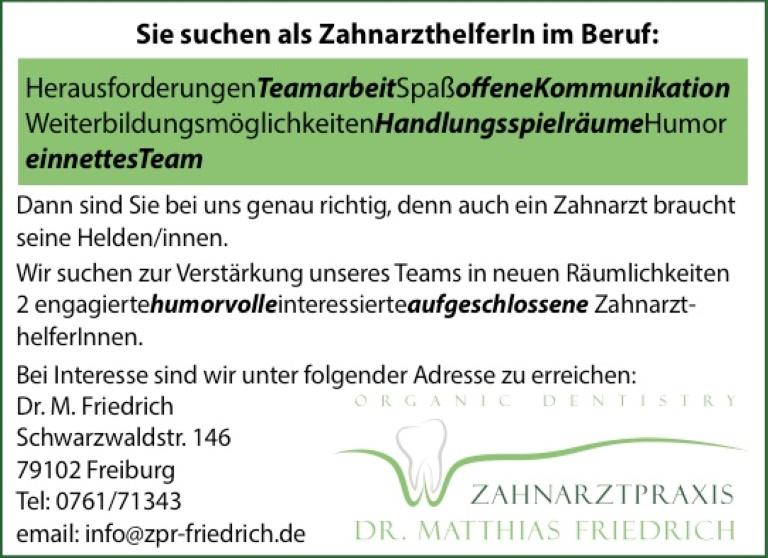 Zahnarztpraxis Dr. Friedrich: Zahnarzthelf