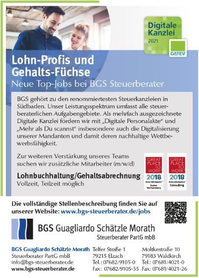 BGS Guagliardo Schätzle Morath