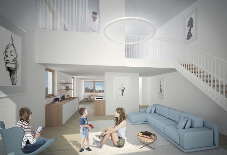 Großzügige 5,5 Zi. Penthauswohnung mit Dachterrasse in Schallstadt - Plusenergie Klimahäuser