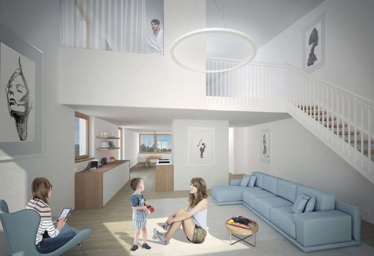 Großzügige 4,5 Zi. Penthauswohnung mit Dachterrasse in Schallstadt - Plusenergie Klimahäuser