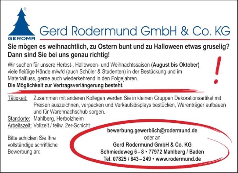 Gerd Rodermund GmbH, Mahlberg: