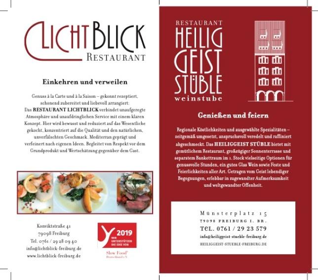 Restaurant Lichtblick & Heiliggeist Stüble am Münster  suchen