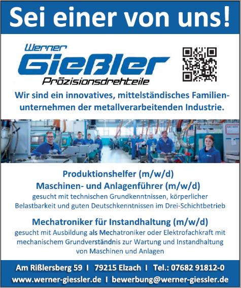 Werner Gießler GmbH, Elzach: